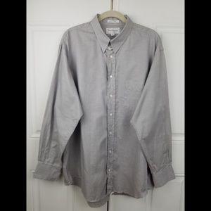 Burberry London Men Shirt 17.5 Gingham Plaid Top